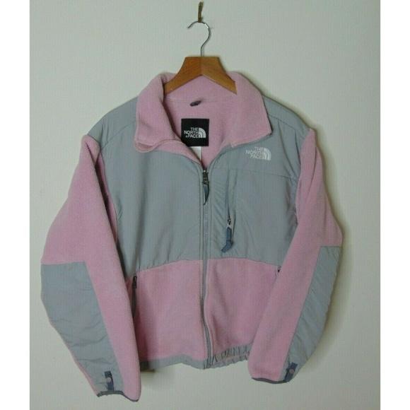 The North Face Jackets & Blazers - North Face M Denali Fleece Jacket Gray Pink Zip